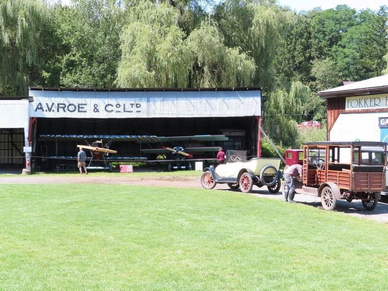 Hangar and Antique Cars at Old Rhinebeck Aerodrome image. Click for full size.