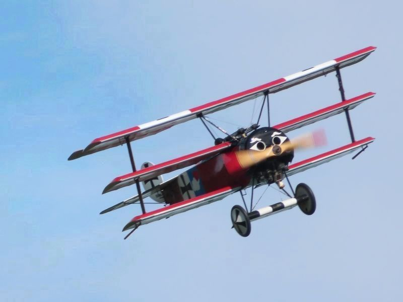 1916 Fokker DR-1 Triplane (reproduction) image. Click for full size.