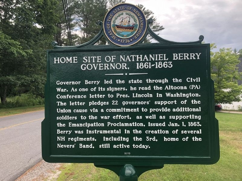 Home Site of Nathaniel Berry Marker image. Click for full size.