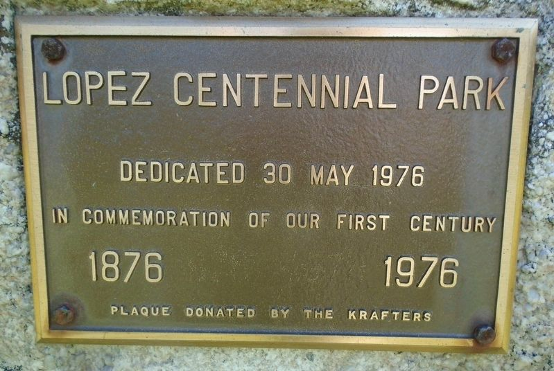 Lopez Centennial Park Marker image. Click for full size.