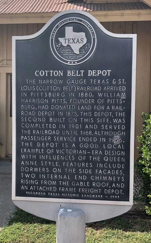 Cotton Belt Depot Marker image. Click for full size.