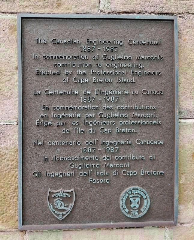 Nova Scotia Association of Professional Engineers Plaque (<i>also mounted on monument</i>) image. Click for full size.