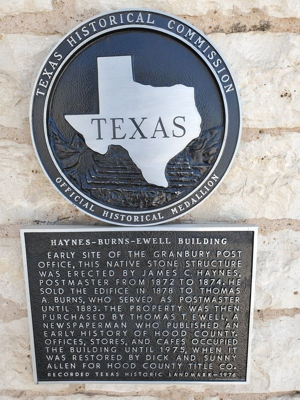 Haynes-Burns-Ewell Building Marker image. Click for full size.