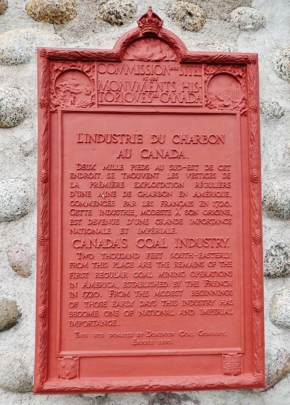 L'industrie du Charbon au Canada / Canada's Coal Industry Marker image. Click for full size.