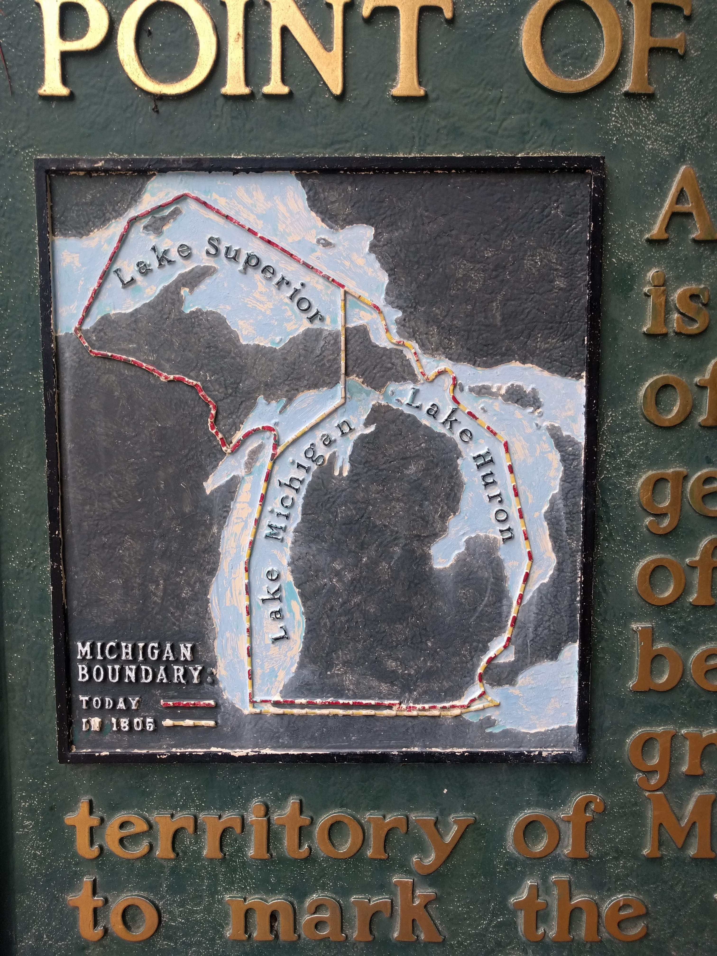 The Northernmost Point of Lake Michigan Marker