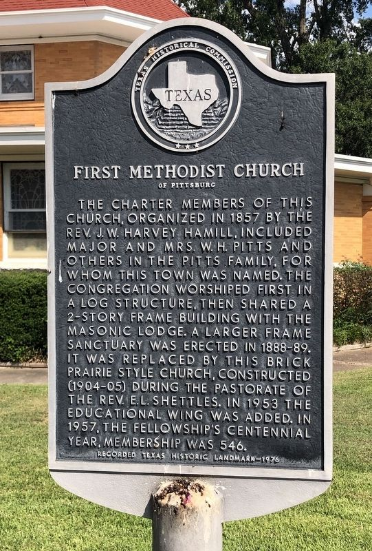 First Methodist Church of Pittsburg Marker image. Click for full size.