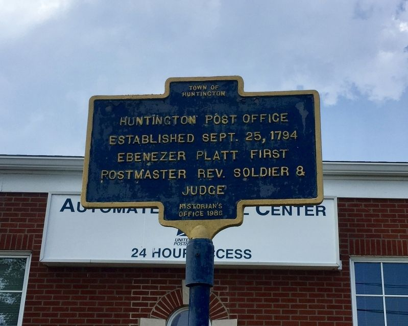 Huntington Post Office Marker image. Click for full size.