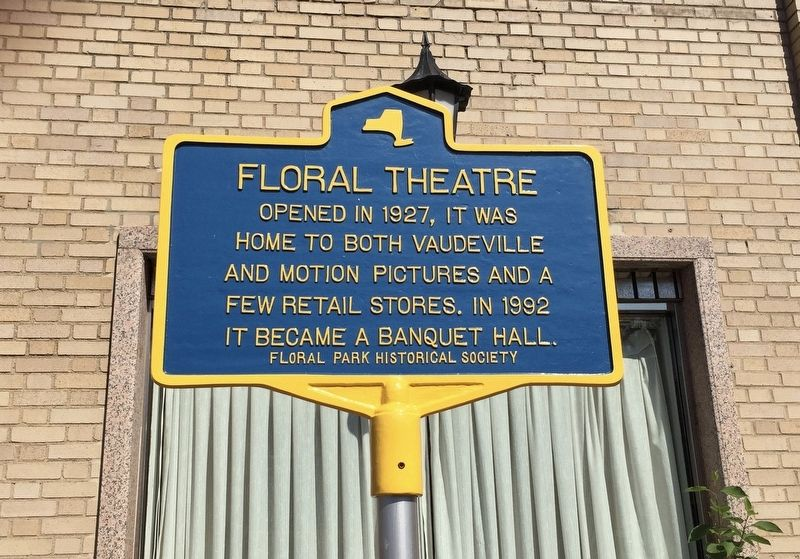 Floral Theatre Marker image. Click for full size.