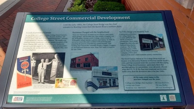 College Street Commercial Development Marker image. Click for full size.