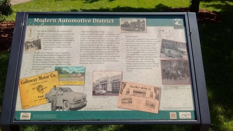 Modern Automotive District Marker image. Click for full size.