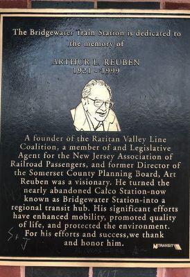 Bridgewater Train Station Marker image. Click for full size.