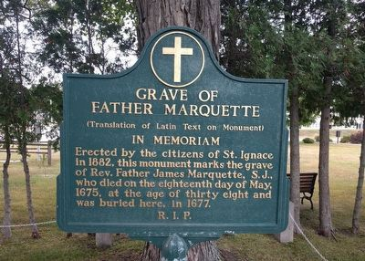Grave of Father Marquette Marker image. Click for full size.