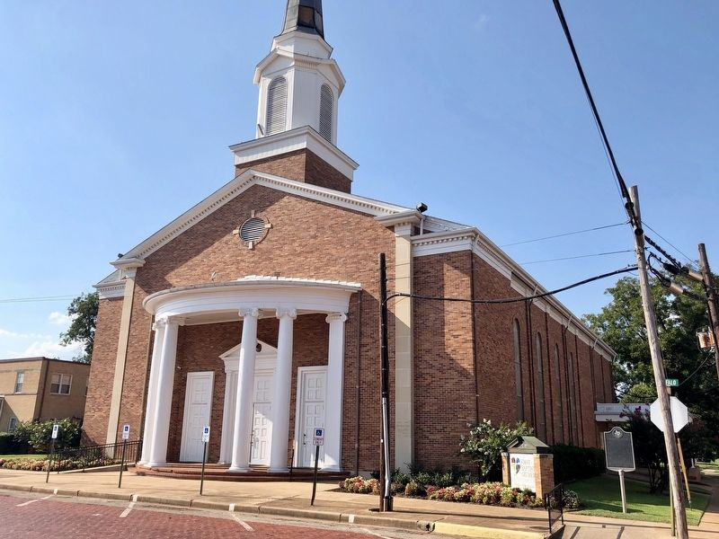 First Baptist Church of Gilmer and Marker image. Click for full size.