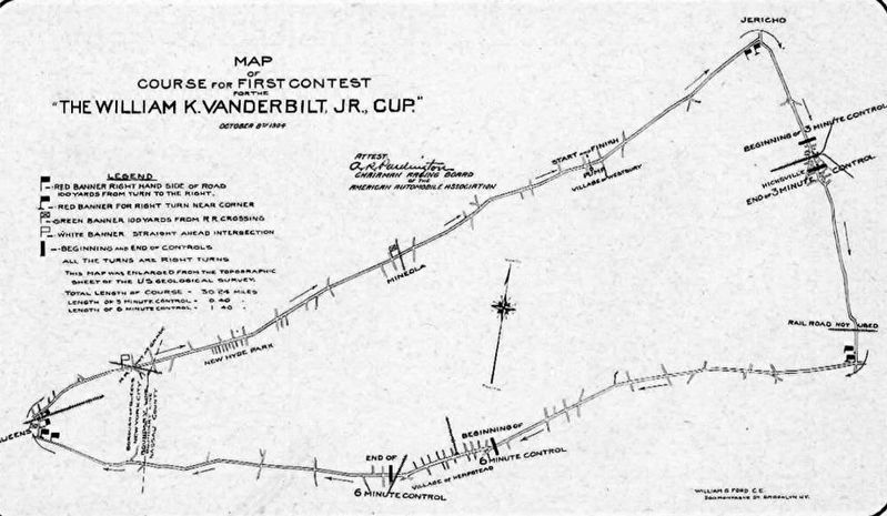 Vanderbilt Cup Race 1904 Map image. Click for full size.
