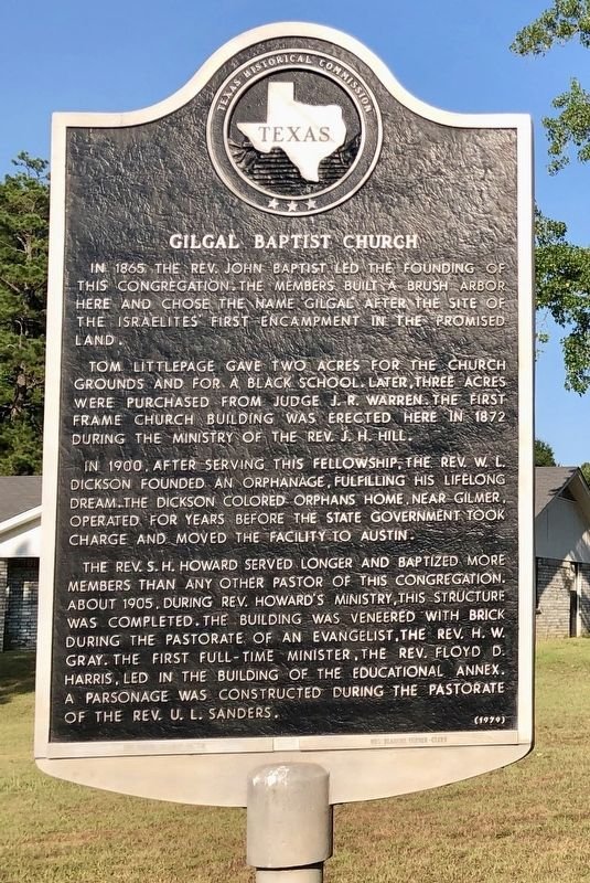 Gilgal Baptist Church Marker image. Click for full size.