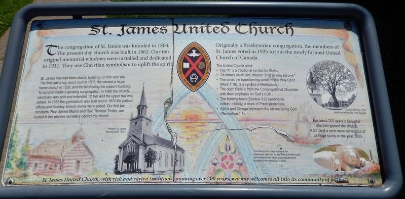 St. James United Church Marker image. Click for full size.