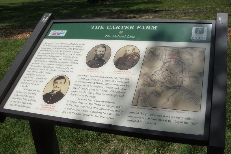 The Carter Farm - The Federal Line Marker image. Click for full size.