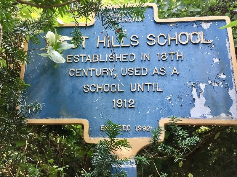 West Hills School Marker image. Click for full size.