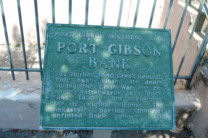 Port Gibson Bank Marker image. Click for full size.