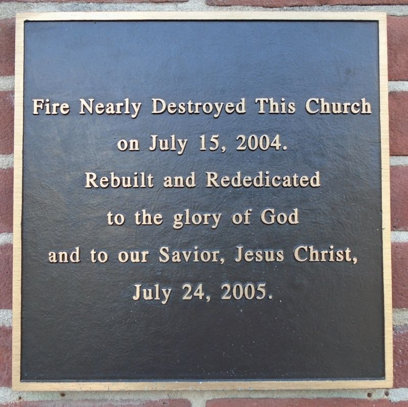 Masontown United Methodist Church Fire Marker image. Click for full size.