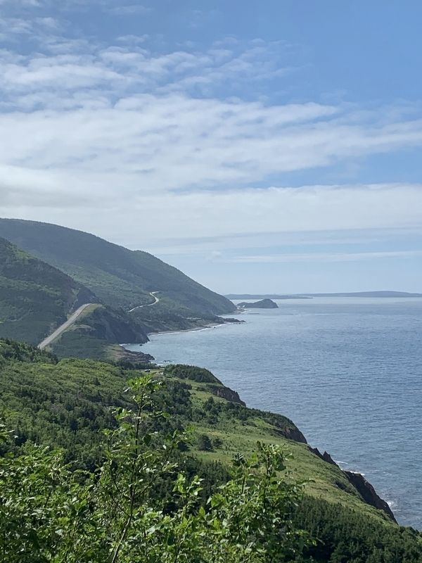 Famous Virw of the Cabot Trail from marker image. Click for full size.