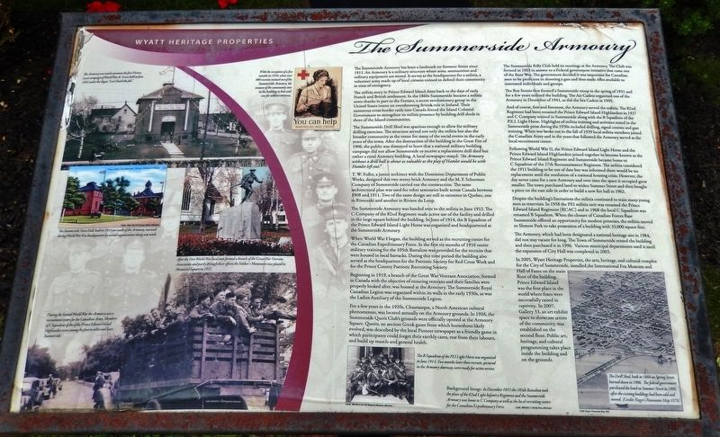 The Summerside Armoury Marker image. Click for full size.