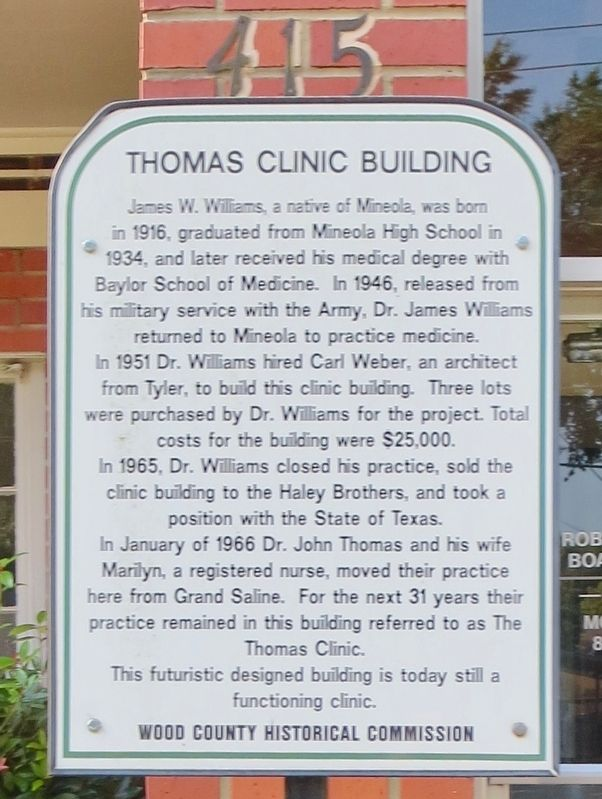 Thomas Clinic Building Marker image. Click for full size.