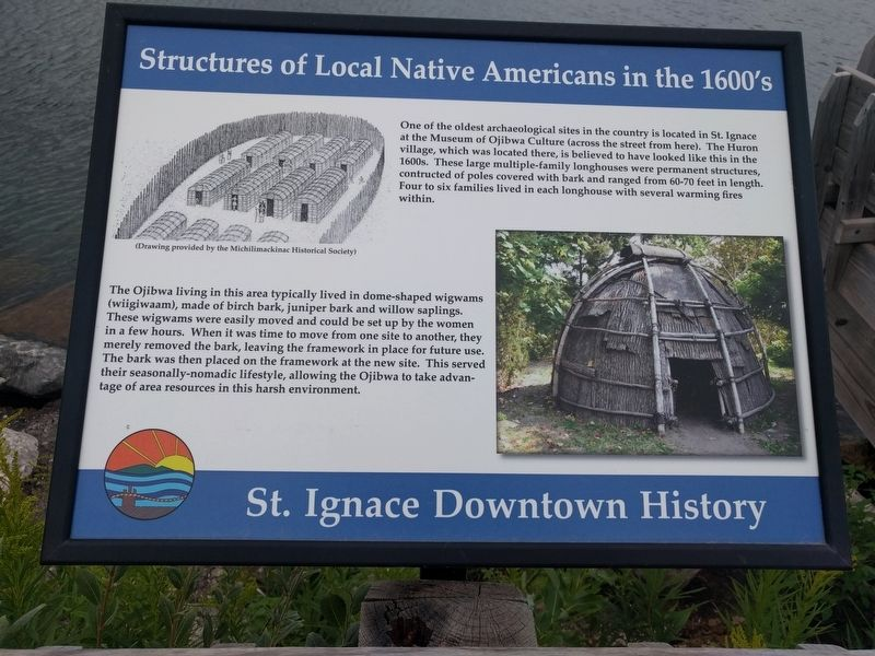 Structures of Local Native Americans in the 1600's Marker image. Click for full size.