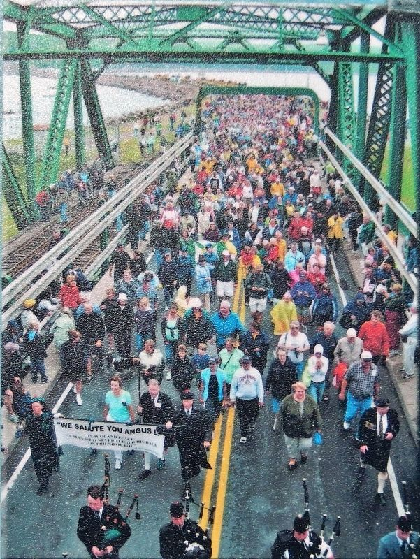 Marker detail: Canso Causeway 50th Anniversary image. Click for full size.