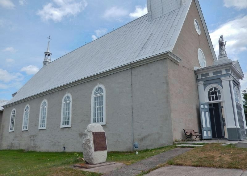 The Church of Saint-André Marker<br>(<i>wide view • marker near northwest corner of church</i>) image. Click for full size.