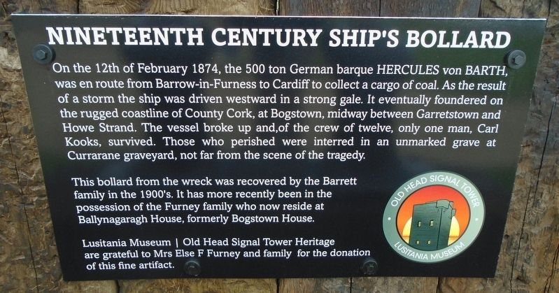 Nineteenth Century Ship's Bollard Marker image. Click for full size.
