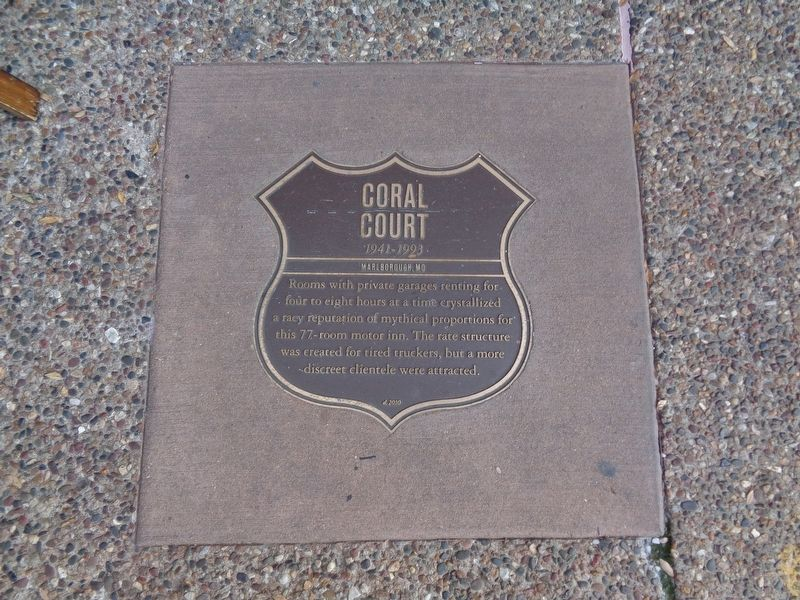 Coral Court Marker image. Click for full size.