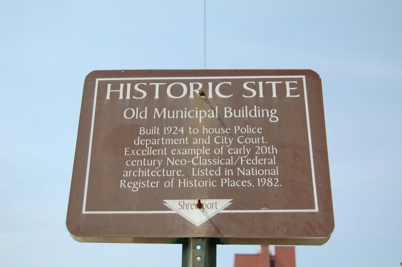 Old Municipal Building Marker image. Click for full size.