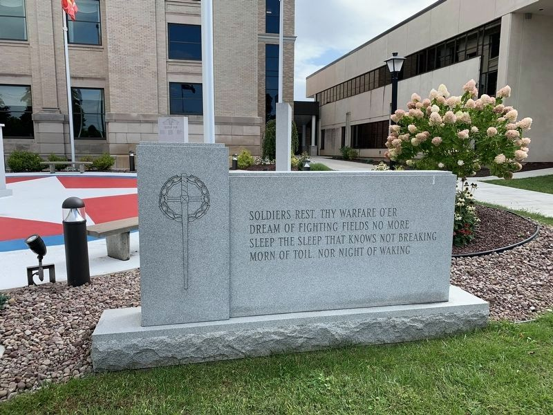 Madison County War Veterans Memorial image. Click for full size.