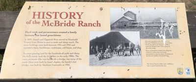 History of the McBride Ranch Marker image. Click for full size.