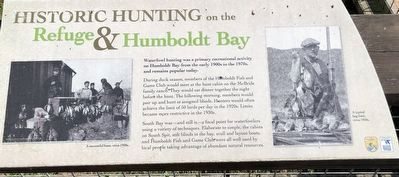 Historic Hunting on the, Refuge and Humboldt Bay Marker image. Click for full size.