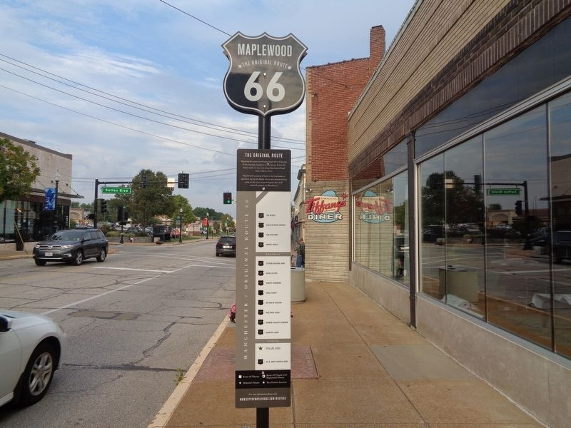 Map of Route 66 tribute and memorial plaques image. Click for full size.