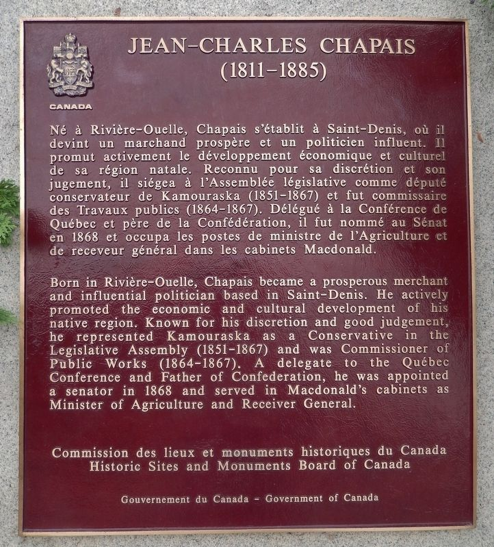 Jean-Charles Chapais Marker image. Click for full size.