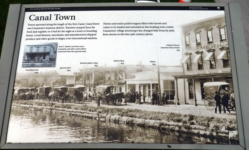 Canal Town Marker image. Click for full size.