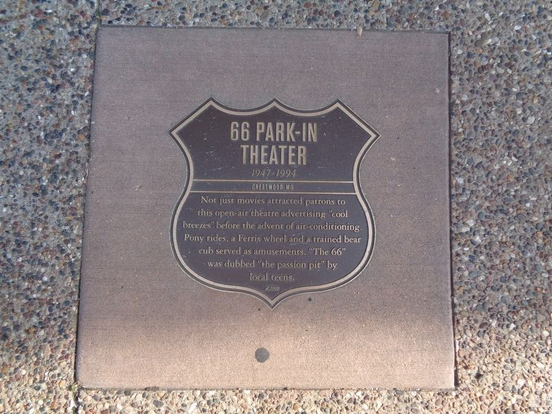 66 Park-In Theater Marker image. Click for full size.