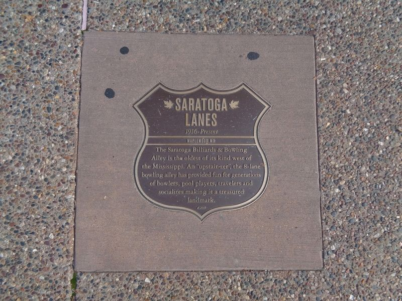 Saratoga Lanes Marker image. Click for full size.