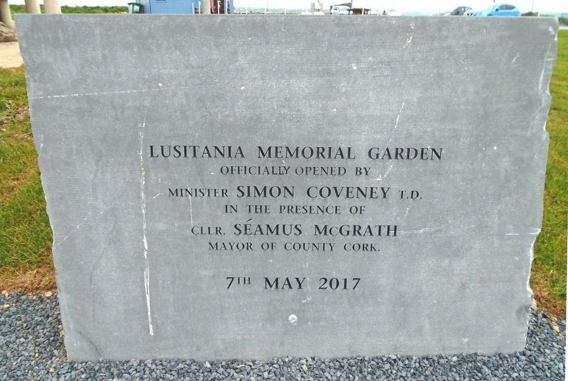 Lusitania Memorial Garden Sign image. Click for full size.