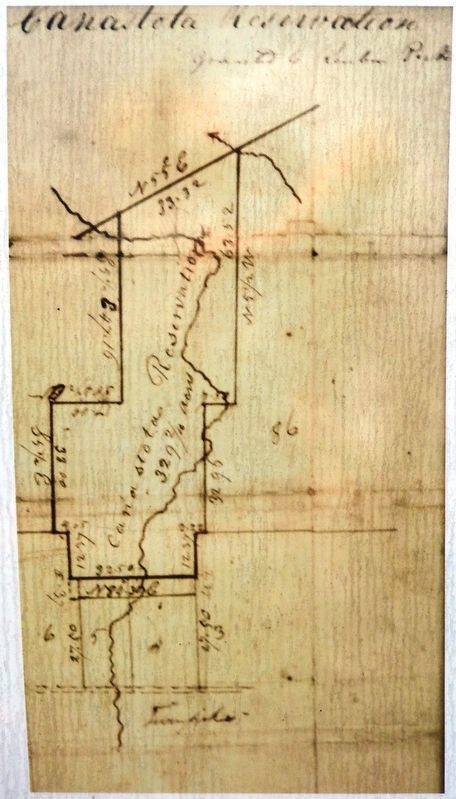 Marker detail: Canastota Reservation Granted to Reuben Perkins (map) image. Click for full size.