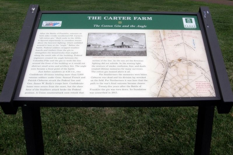 The Carter Farm - The Cotton Gin and the Angle marker image. Click for full size.