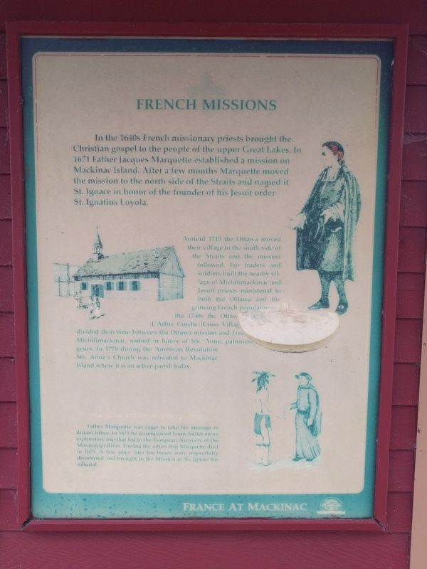 France at Mackinac Marker image. Click for full size.