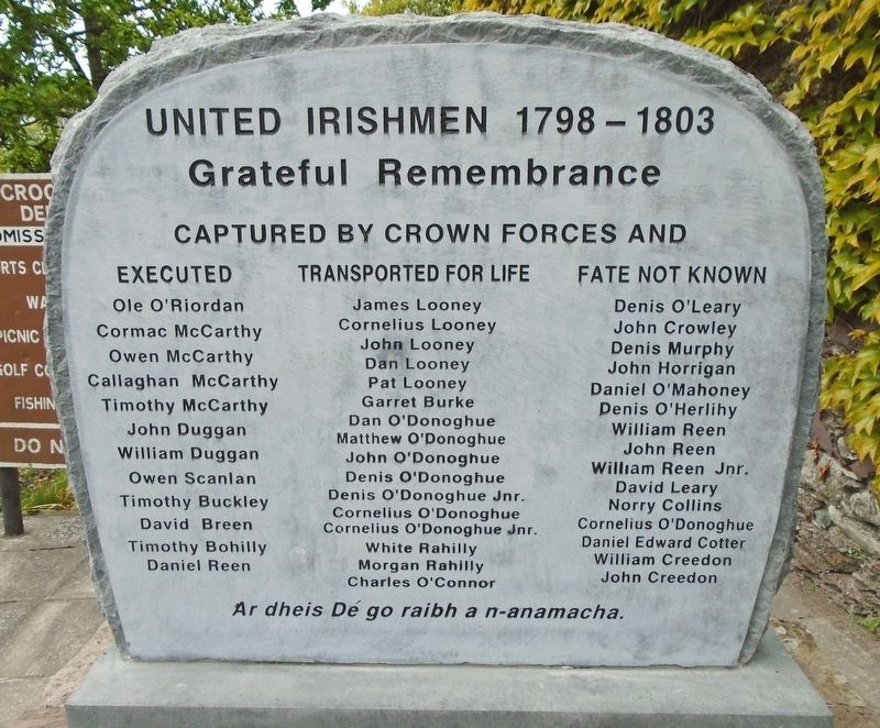 United Irishmen 1798 - 1803 Marker image. Click for full size.
