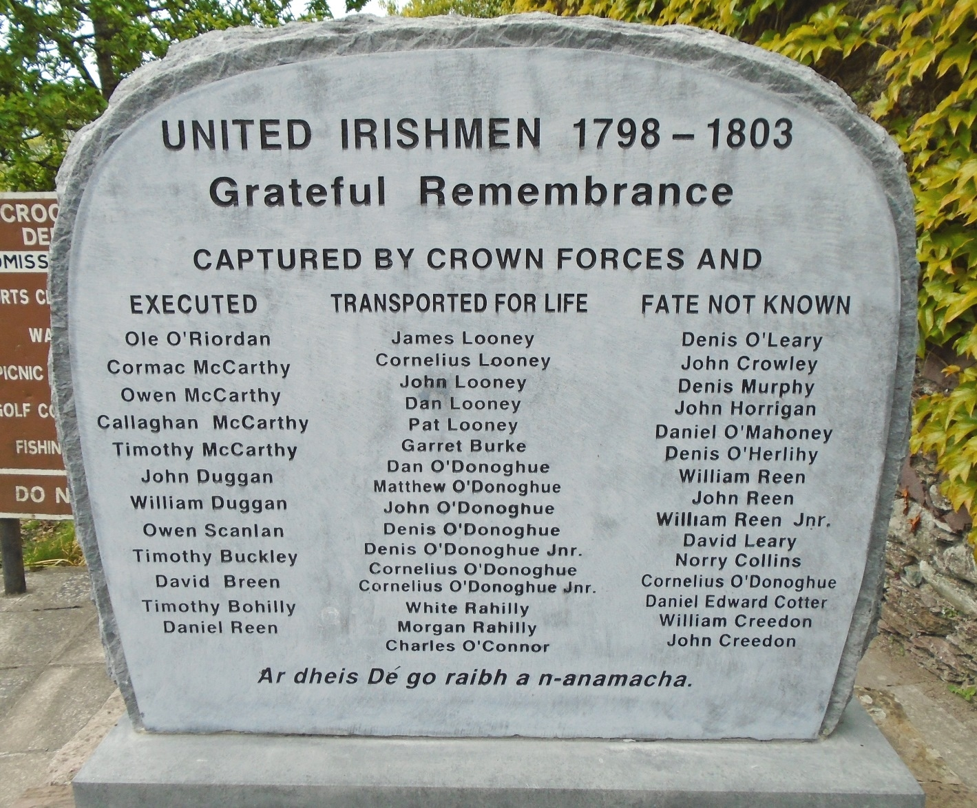 United Irishmen 1798 - 1803 Marker