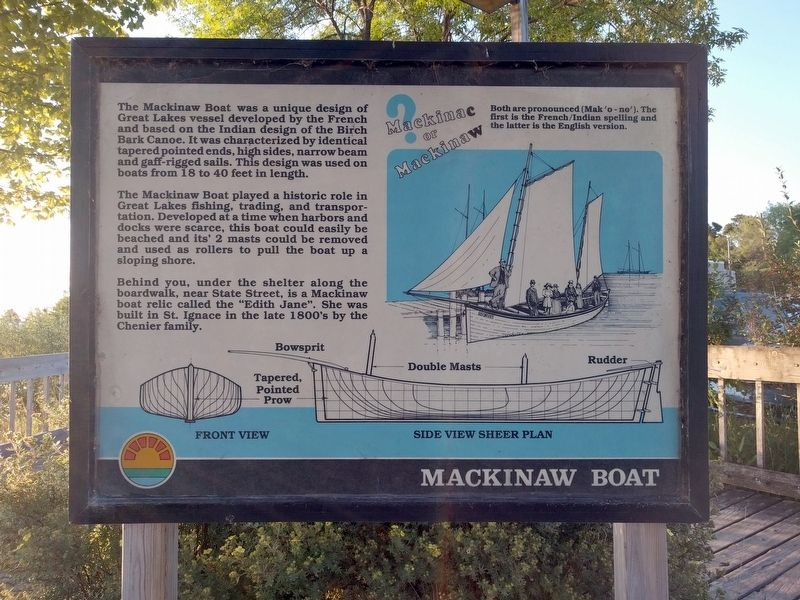 Mackinaw Boat Marker image. Click for full size.