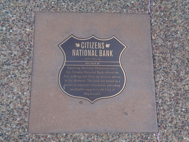 Citizens National Bank Marker image. Click for full size.