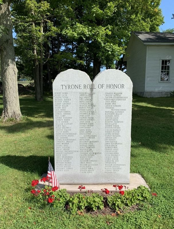 Tyrone Roll of Honor Marker image. Click for full size.